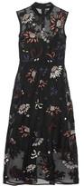 Markus Lupfer Embroidered Embellished Silk-organza Dress