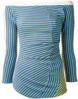 Richard Malone off-shoulders Twist blouse