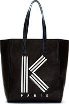 Kenzo Black Large Logo Tote