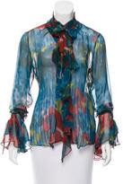 Yigal Azrouel Printed Silk Blouse