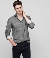 Reiss Temple - Tonal Patterned Shirt in Grey, Mens