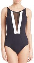 LaBlanca La Blanca Mesh Cutout One-Piece Swimsuit