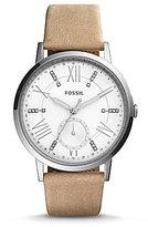 Fossil Gazer Multifunction Leather-Strap Watch