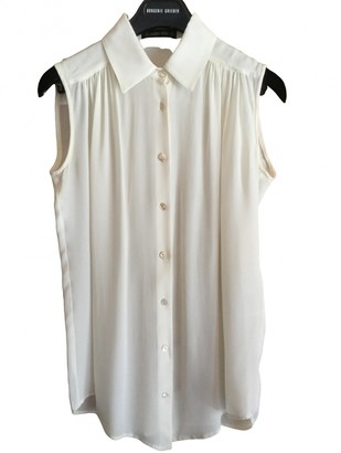 Plein Sud Jeans White Silk Top for Women