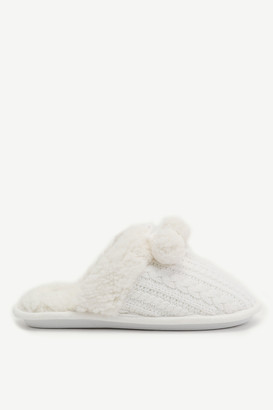 Ardene Cable-Knit Slide Slippers