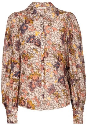Ulla Johnson Circe floral cotton-blend blouse