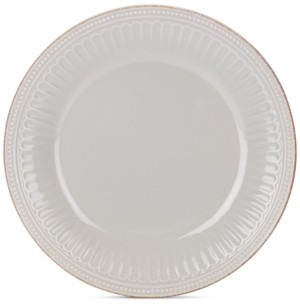 Lenox Stoneware French Perle Groove Dove Grey Dinner Plate, Created for Macy's