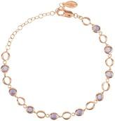 Latelita Milan Link Gemstone Bracelet Rose Gold Amethyst