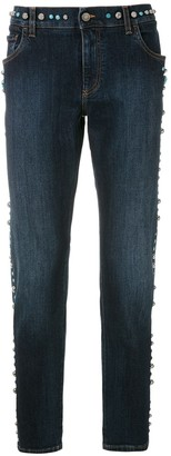 Dolce & Gabbana Studded Slim-Fit Jeans