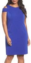Vince Camuto Plus Size Women's Cold Shoulder Crepe Sheath Dress