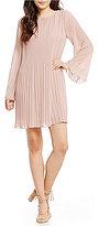 Gianni Bini Chloe Micro Pleat Swing Dress