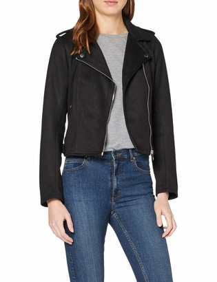 Tom Tailor Women's Wildlederoptik Biker Jacke Faux Leather Jacket