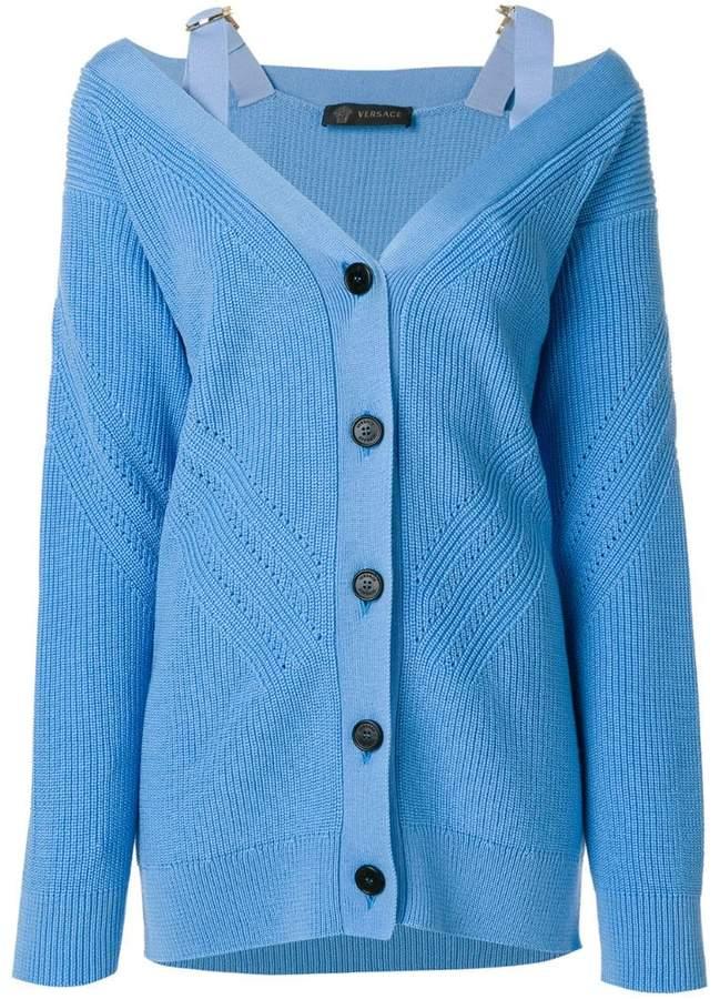 Versace V-neck knit cardigan
