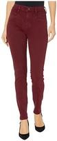 Liverpool Abby High-Rise Skinny w/ Slant Pockets in Slub Stretch Twill (Oxblood) Women's Casual Pants
