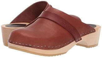 Swedish Hasbeens Swedish Husband (Cognac) Women's Clog Shoes