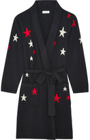 Chinti and Parker Star-intarsia Cashmere Robe - Midnight blue