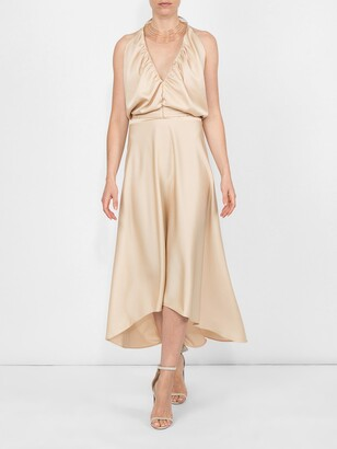 Chloé deep v-neck fluid dress