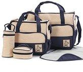 Generic 5 pcs Baby Changing Diaper Nappy Bag Tote Mummy Mother Multifunctional Handbag
