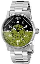 Fortis Men's 595.11.16 M Flieger Cockpit Olive Analog Display Automatic Self Wind Silver Watch