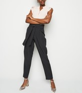 New Look Tall Tie Waist Tapered Trousers