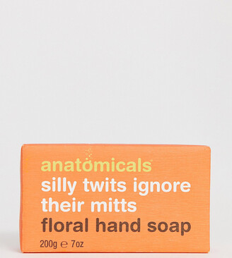 Anatomicals silly twits ignore their mitts. Floral hand soap bar