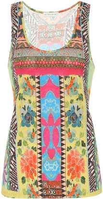 Etro Printed cotton tank top