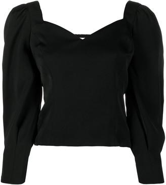 BA&SH Monet sweetheart neckline blouse