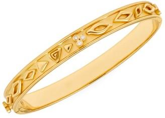 Temple St. Clair Nature Deconstructed River Wave 18K Yellow Gold & Diamond Large Bangle Bracelet