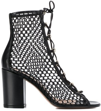 Gianvito Rossi mesh lace-up booties
