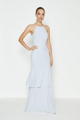 Coast Halterneck Tiered Hem Maxi Dress