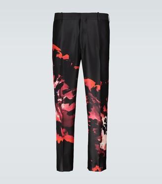 Alexander McQueen Ink Floral pants
