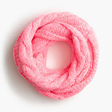 J.Crew Girls' cable-knit neon infinity scarf