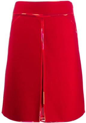Fendi Pre Owned 2000's Silk Lining Midi Skirt
