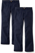Old Navy Uniform Boot-Cut Pants 2-packs for Girls