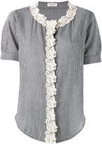 Masscob macrame trim shirt - women - Cotton - M
