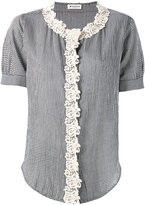 Masscob macrame trim shirt