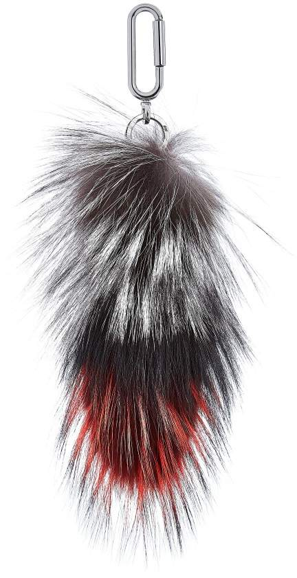 Amanda Wakeley Stripe Fox Tail Bag Charm