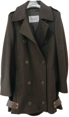 Max Mara Khaki Wool Coat for Women