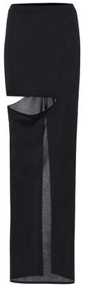 Rick Owens Silk-blend maxi skirt