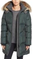Pajar Chloe Contrast Detail Down Parka with Genuine Fur Trim