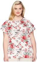 Unique Vintage Plus Size Chiffon Cap Sleeve Jeannie Blouse Women's Blouse