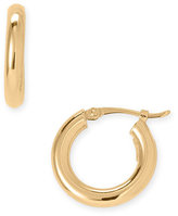 18-Karat Gold 17mm Thick Hoop Earrings
