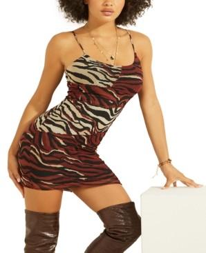 GUESS Lara Zebra-Print Bodycon Dress
