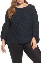 Vince Camuto Plus Size Women's Eyelash Knit Bubble Sleeve Sweater
