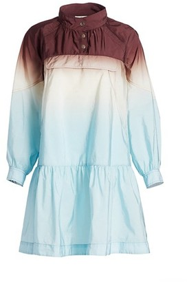 Sea Zanna Long-Sleve Nylon Dip-Dye Tunic Dress