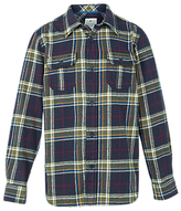 Fat Face Boys' Camp Fire Check Shirt, Blue