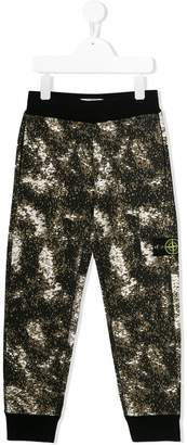 Stone Island Junior printed casual trousers