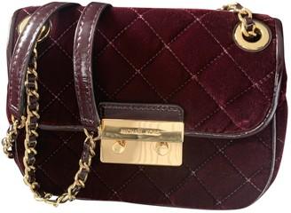 Michael Kors Sloan Burgundy Velvet Handbags