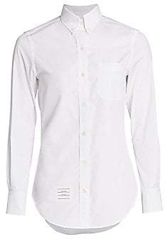 Thom Browne Women's Classic Long Sleeve Button Down Shirt