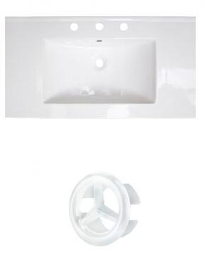 "American Imaginations Flair Ceramic 37"" Single Bathroom Vanity Top Faucet Mount: 4"" Centers"